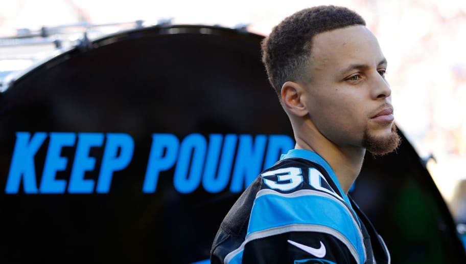 762cce89c54 Steph Curry Lost a Bet and Had to Pay Up at the Panthers-Raiders Game