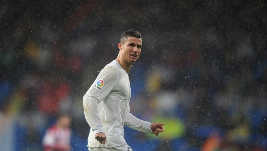 MADRID, SPAIN - NOVEMBER 26:  Cristiano Ronaldo of Real Madrid  looks on during the La Liga match between Real Madrid CF and Real Sporting de Gijon at Estadio Santiago Bernabeu on November 26, 2016 in Madrid, Spain.  (Photo by Denis Doyle/Getty Images)