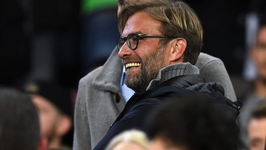 BARCELONA, SPAIN - DECEMBER 06:  Jurgen Klopp, Manager of Liverpool looks on from the stands during the UEFA Champions League Group C match between FC Barcelona and VfL Borussia Moenchengladbach at Camp Nou on December 6, 2016 in Barcelona, .  (Photo by David Ramos/Getty Images)