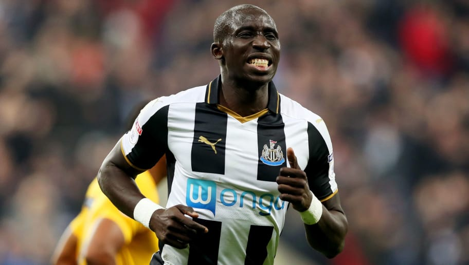 NEWCASTLE UPON TYNE, ENGLAND - OCTOBER 25:  Mohamed Diame of Newcastle United celebrates scoring his sides second goal during the EFL Cup fourth round match between Newcastle United and Preston North End at St James' Park on October 25, 2016 in Newcastle upon Tyne, England.  (Photo by Ian MacNicol/Getty Images)