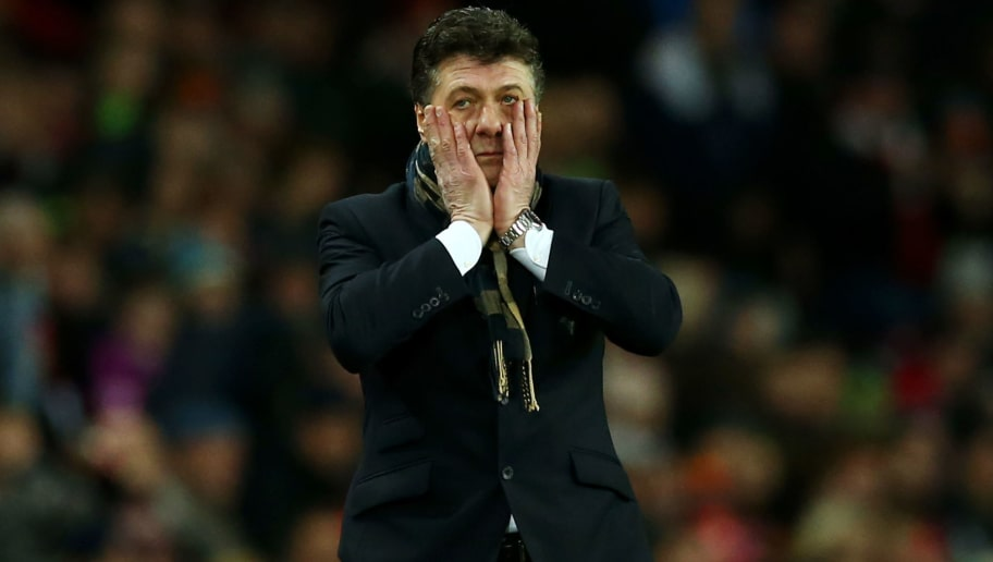 SUNDERLAND, ENGLAND - DECEMBER 17:  Walter Mazzarri, Manager of Watford reacts during the Premier League match between Sunderland and Watford at Stadium of Light on December 17, 2016 in Sunderland, England.  (Photo by Jan Kruger/Getty Images)