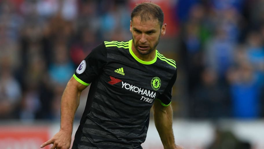 SWANSEA, WALES - SEPTEMBER 11:  Chelsea player Branislav Ivanovic in action during the Premier League match between Swansea City and Chelsea at Liberty Stadium on September 11, 2016 in Swansea, Wales.  (Photo by Stu Forster/Getty Images)