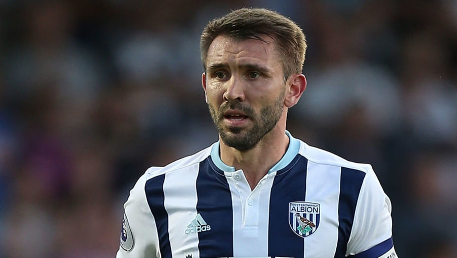NORTHAMPTON, ENGLAND - AUGUST 23:  Gareth McAuley of West Bromwich Albion in action during the EFL Cup second round match between Northampton Town and West Bromwich Albion at Sixfields Stadium on August 23, 2016 in Northampton, England.  (Photo by Pete Norton/Getty Images)