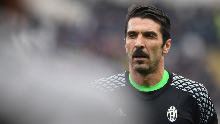 TURIN, ITALY - DECEMBER 11:  Gianluigi Buffon of Juventus FC looks on prior to the Serie A match between FC Torino and Juventus FC at Stadio Olimpico di Torino on December 11, 2016 in Turin, Italy.  (Photo by Valerio Pennicino/Getty Images)