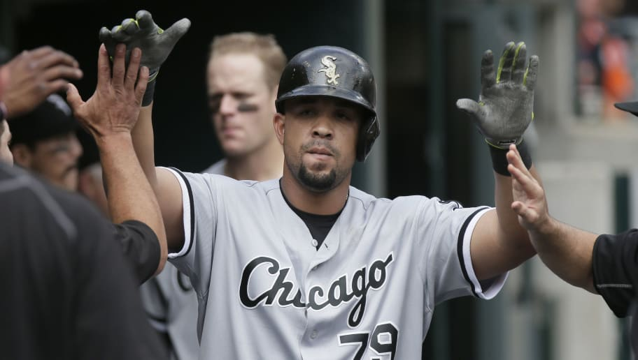 DETROIT, MI - AUGUST 31: Jose Abreu #79 of the Chicago White Sox is congratulated after hitting a home run against the Detroit Tigers during the fourth inning at Comerica Park on August 31, 2016 in Detroit, Michigan. (Photo by Duane Burleson/Getty Images)