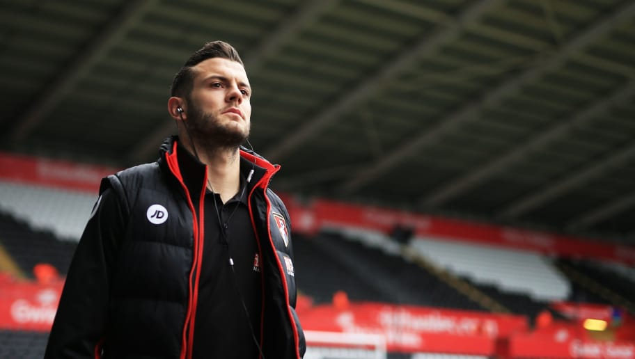 SWANSEA, WALES - DECEMBER 31:  Jack Wilshere of AFC Bournemouth is seen on arrival at the stadium prior to the Premier League match between Swansea City and AFC Bournemouth at Liberty Stadium on December 31, 2016 in Swansea, Wales.  (Photo by Ben Hoskins/Getty Images)