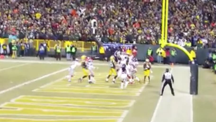 buy popular 7a9ca c27b5 VIDEO: New Angle of Aaron Rodgers' Hail Mary From Inside ...