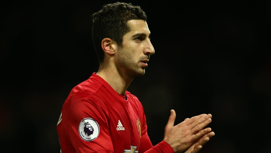 MANCHESTER, ENGLAND - DECEMBER 26:  Henrikh Mkhitaryan of Manchester United applauds the fans following his team's 3-1 victory during the Premier League match between Manchester United and Sunderland at Old Trafford on December 26, 2016 in Manchester, England.  (Photo by Jan Kruger/Getty Images)