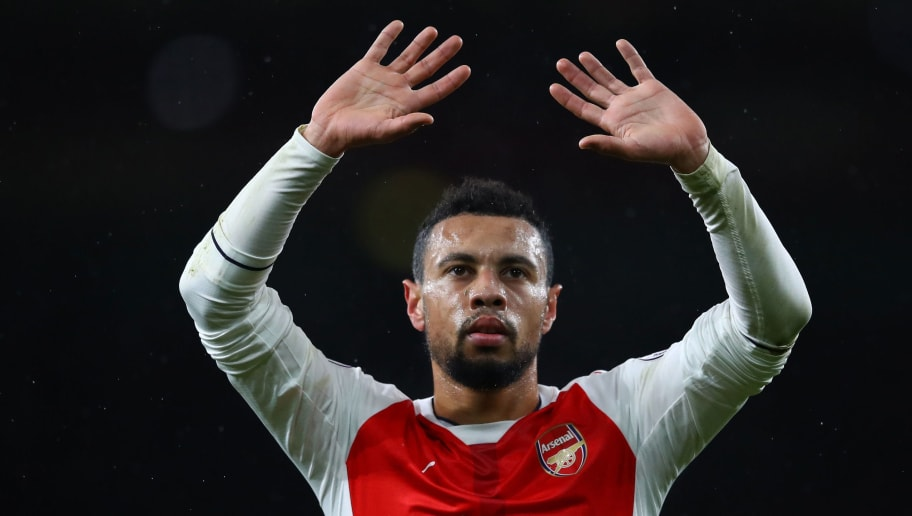 LONDON, ENGLAND - JANUARY 01:  Francis Coquelin of Arsenal applauds the fans following his team's 2-0 victory during the Premier League match between Arsenal and Crystal Palace at the Emirates Stadium on January 1, 2017 in London, England.  (Photo by Clive Mason/Getty Images)