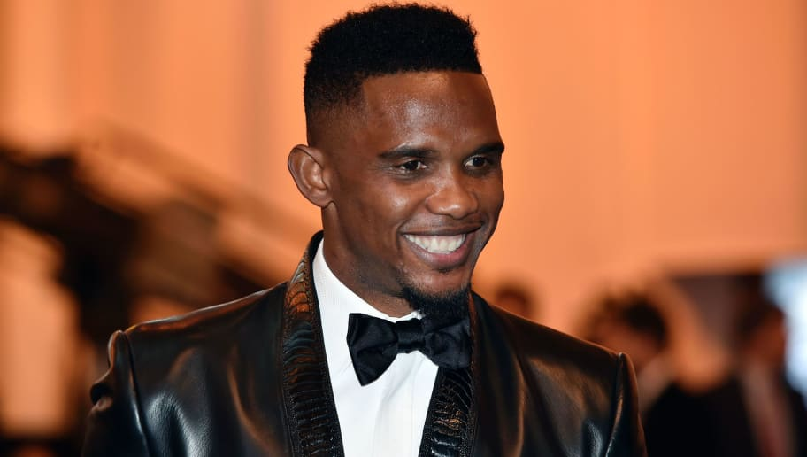 Cameroon and Antalyaspor forward Samuel Eto'o smiles as he arrives for the 2015 FIFA Ballon d'Or award ceremony at the Kongresshaus in Zurich on January 11, 2016. AFP PHOTO / FABRICE COFFRINI / AFP / FABRICE COFFRINI        (Photo credit should read FABRICE COFFRINI/AFP/Getty Images)
