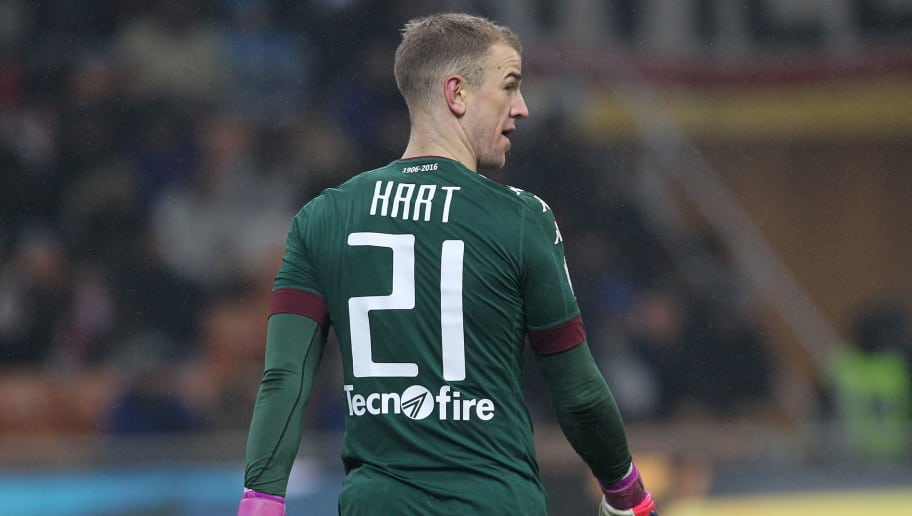 MILAN, ITALY - JANUARY 12:  Joe Hart of Torino FC looks on during the TIM Cup match between AC Milan and AC Torino at Giuseppe Meazza Stadium on January 12, 2017 in Milan, Italy.  (Photo by Marco Luzzani/Getty Images)