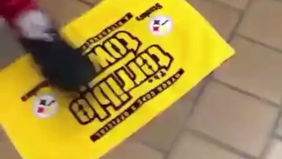 5f77eed90 VIDEO  Watch Patriots Fans Idiotically Ignite Terrible Towel Curse ...