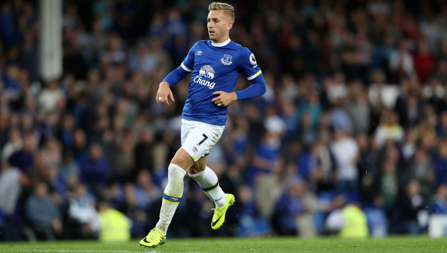 LIVERPOOL, ENGLAND - SEPTEMBER 17:  Gerard Deulofeu of Everton during the Premier League match between Everton and Middlesbrough at Goodison Park on September 17, 2016 in Liverpool, England. (Photo by Lynne Cameron/Getty Images)