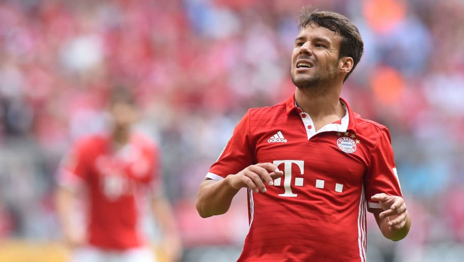 Bayern Munich's Spanish defender Juan Bernat reacts during the German first division Bundesliga football match between FC Bayern Munich and 1 FC Cologne in Munich, southern Germany, on October 1, 2016. / AFP / CHRISTOF STACHE / RESTRICTIONS: DURING MATCH TIME: DFL RULES TO LIMIT THE ONLINE USAGE TO 15 PICTURES PER MATCH AND FORBID IMAGE SEQUENCES TO SIMULATE VIDEO. == RESTRICTED TO EDITORIAL USE == FOR FURTHER QUERIES PLEASE CONTACT DFL DIRECTLY AT + 49 69 650050         (Photo credit should read CHRISTOF STACHE/AFP/Getty Images)