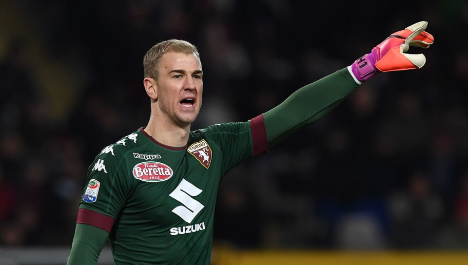 TURIN, ITALY - JANUARY 16:  Joe Hart of FC Torino issues instructions during the Serie A match between FC Torino and AC Milan at Stadio Olimpico di Torino on January 16, 2017 in Turin, Italy.  (Photo by Valerio Pennicino/Getty Images)