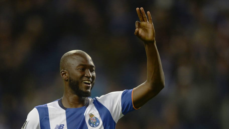 Porto's midfielder Danilo Pereira celebrates after scoring a goal during the Portuguese league football match FC Porto vs CD Nacional Funchal at the Dragao stadium in Porto on April 17, 2016. / AFP / MIGUEL RIOPA        (Photo credit should read MIGUEL RIOPA/AFP/Getty Images)