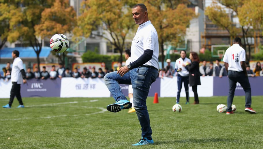 SHANGHAI, CHINA - APRIL 14:  Laureus World Sports Ambassador Ruud Gullit takes part during a Laureus Shanghai Football Campus Tour prior to the Laureus World Sports Awards 2015 at Datong Middle School on April 14, 2015 in Shanghai, China.  (Photo by Feng Li/Getty Images for Laureus)