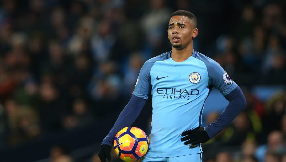 MANCHESTER, ENGLAND - JANUARY 21:  Gabriel Jesus of Manchester City looks on after the Premier League match between Manchester City and Tottenham Hotspur at the Etihad Stadium on January 21, 2017 in Manchester, England.  (Photo by Alex Livesey/Getty Images)