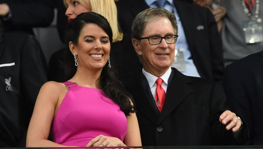 Liverpool owner US businessman John W Henry (R) and his wife Linda Pizzuti Henry attend the UEFA Europa League final football match between Liverpool FC and Sevilla FC at the St Jakob-Park stadium in Basel, on May 18, 2016.   AFP PHOTO / PAUL ELLIS / AFP / PAUL ELLIS        (Photo credit should read PAUL ELLIS/AFP/Getty Images)