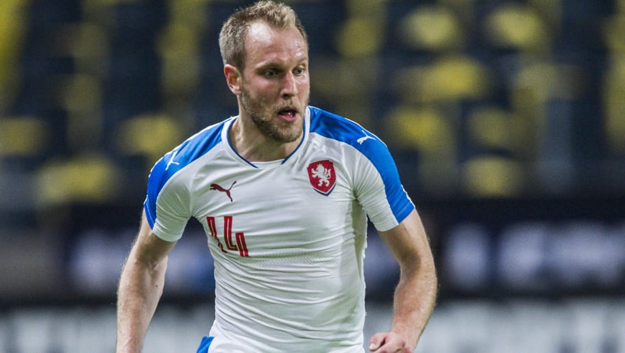 SOLNA, SWEDEN - MARCH 29: Czech Republics Daniel Kolar during the international friendly between Sweden and Czech Republic at Friends Arena on March 29, 2016 in Solna, Sweden. (Photo by Marcus Ericsson/Ombrello/Getty Images)