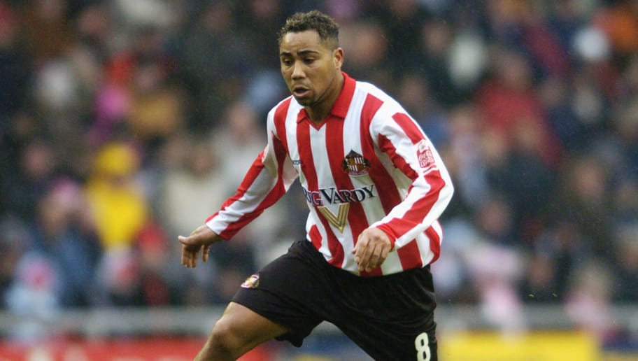 SUNDERLAND, ENGLAND - NOVEMBER 21:  Jeff Whitley of Sunderland in action during the Coca-Cola Championship Match between Sunderland and Ipswich at The Stadium of Light on November 21, 2004 in Sunderland, England.  (Photo by Matthew Lewis/Getty Images)