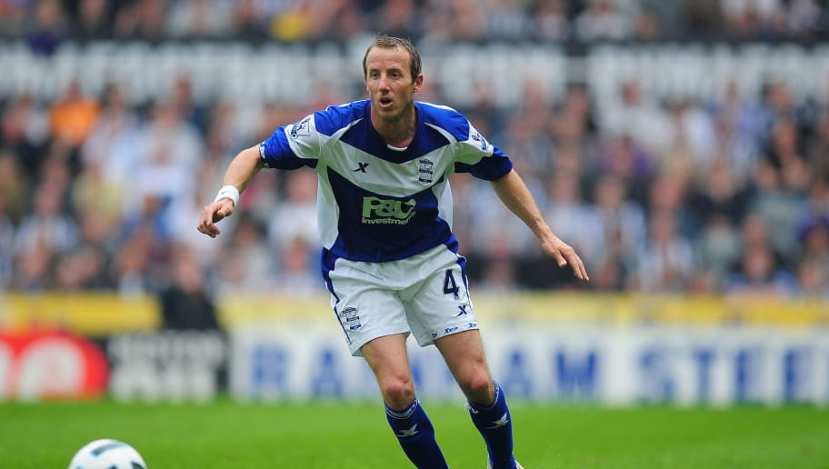 NEWCASTLE UPON TYNE, ENGLAND - MAY 07:  Birmingham City player Lee Bowyer in action during the Barclays  Premier League game between Newcastle United and Birmingham City at St James' Park on May 7, 2011 in Newcastle upon Tyne, England.  (Photo by Stu Forster/Getty Images)