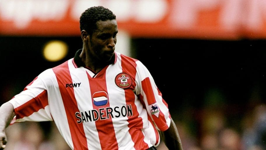 3 Apr 1999:  Ken Monkou of Southampton in action during the FA Carling Premiership match against Arsenal played at the Dell in Southampton, England. \ Mandatory Credit: Phil Cole /Allsport