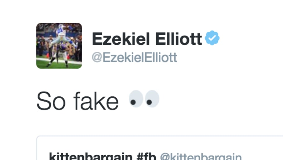 0e80afb6c41 Zeke Hilariously Calls Out Counterfeit Autographed Memorabilia on Twitter