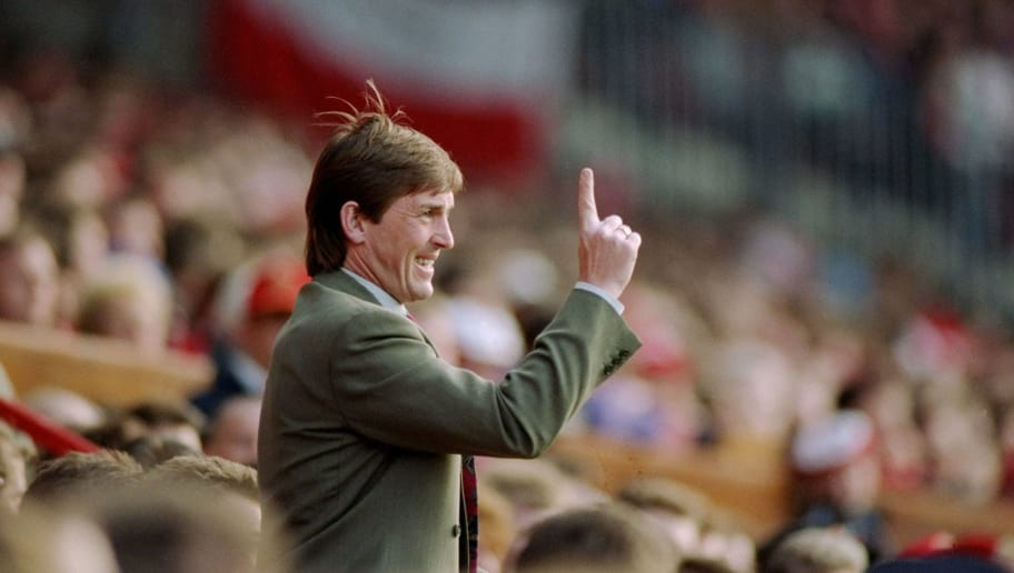 3 May 1993:  Blackburn Rovers manager Kenny Dalglish during the FA Carling Premier League match against Manchester United at Old Trafford in Manchester, England.  \ Mandatory Credit: Shaun Botterill /Allsport