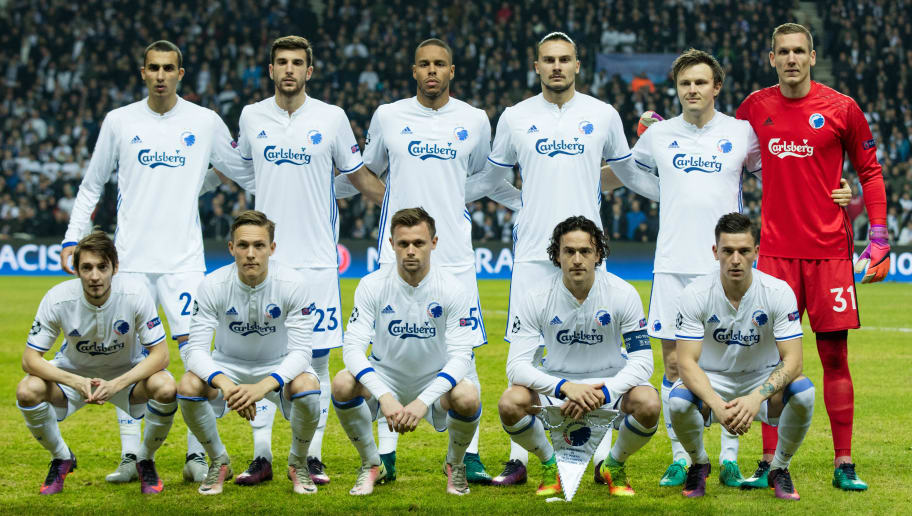 COPENHAGEN, DENMARK - NOVEMBER 22: Players of FC Copenhagen line up for a photo ahead of the UEFA Champions League group stage match between FC Copenhagen and FC Porto at Parken Stadium on November 22, 2016 in Copenhagen, .  (Photo by Ragnar Singsaas/Getty Images)