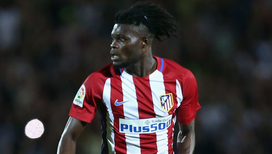 COSENZA, ITALY - AUGUST 06: Thomas Partey of Atletico de Madrid during pres-season friendly match between FC Crotone and Club Atletico de Madrid at Stadio Comunale Gigi Marulla on August 6, 2016 in Cosenza, Italy.  (Photo by Maurizio Lagana/Getty Images)