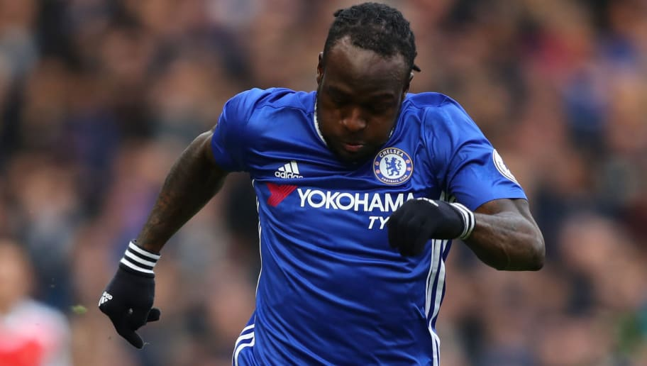 LONDON, ENGLAND - FEBRUARY 04:  Victor Moses of Chelsea in action during the Premier League match between Chelsea and Arsenal at Stamford Bridge on February 4, 2017 in London, England.  (Photo by Clive Rose/Getty Images)