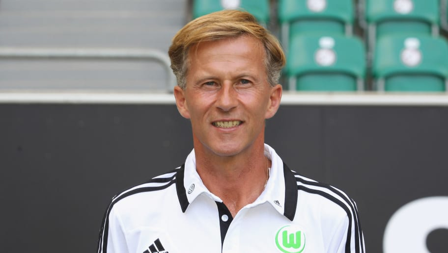 WOLFSBURG, GERMANY - JULY 18:  Assistant coach Andries Jonker of VfL Wolfsburg poses during the Bundesliga team presentation of VfL Wolfsburg at Volkswagen Arena on July 18, 2013 in Wolfsburg, Germany.  (Photo by Boris Streubel/Bongarts/Getty Images)