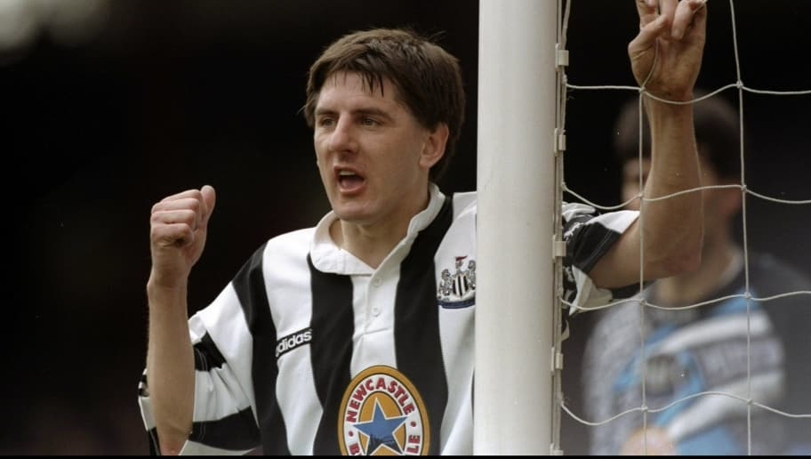1996:  Peter Beardsley of Newcastle United waits for a cross during a match. \ Mandatory Credit: Shaun  Botterill/Allsport