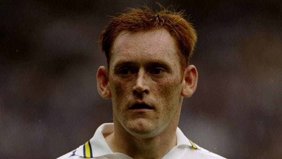 7 Aug 1999:  David Hopkin of Leeds United in action during the FA Carling Premiership match against Derby County played at Elland Road in Leeds, England.  The match finished in a 0-0 draw. \ Mandatory Credit: Ross Kinnaird /Allsport