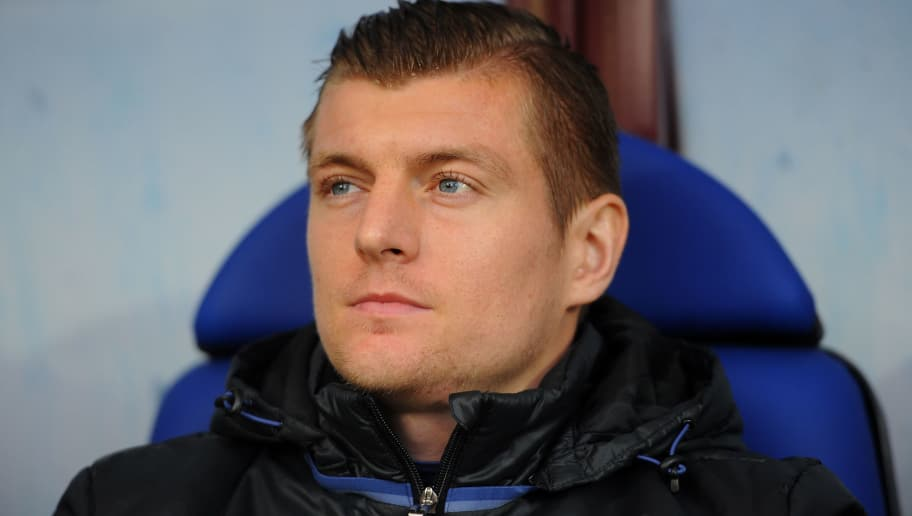 EIBAR, SPAIN - MARCH 04:  Toni Kroos of Real Madrid looks during the La Liga match between SD Eibar and Real Madrid CF at Estadio Municipal de Ipurua on March 4, 2017 in Eibar, Spain.  (Photo by Denis Doyle/Getty Images)