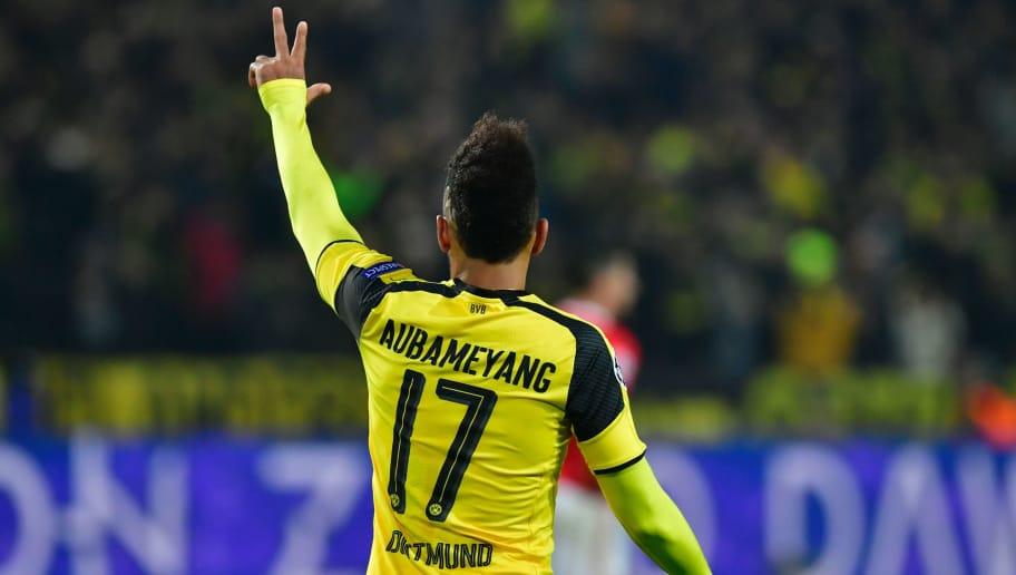 best sneakers 74d66 8aeb2 Borussia Dortmund 4-0 Benfica (4-1 Agg): Aubameyang Hat ...