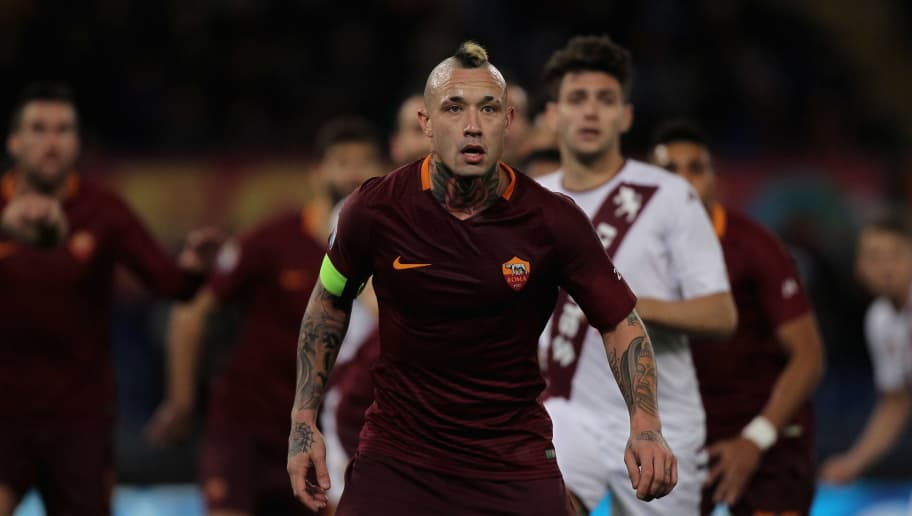 ROME, ITALY - FEBRUARY 19:  Radja Nainggolan of AS Roma looks on during the Serie A match between AS Roma and FC Torino at Stadio Olimpico on February 19, 2017 in Rome, Italy.  (Photo by Paolo Bruno/Getty Images)