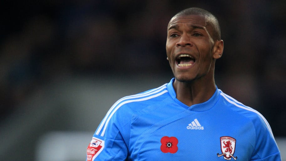 LONDON, ENGLAND - NOVEMBER 7:  Marcus Bent of Middlesbrough during the Crystal Palace and Middlesbrough Coca Cola Championship match at Selhurst Park on November 7, 2009 in London, England. (Photo by Jed Leicester/Getty Images)