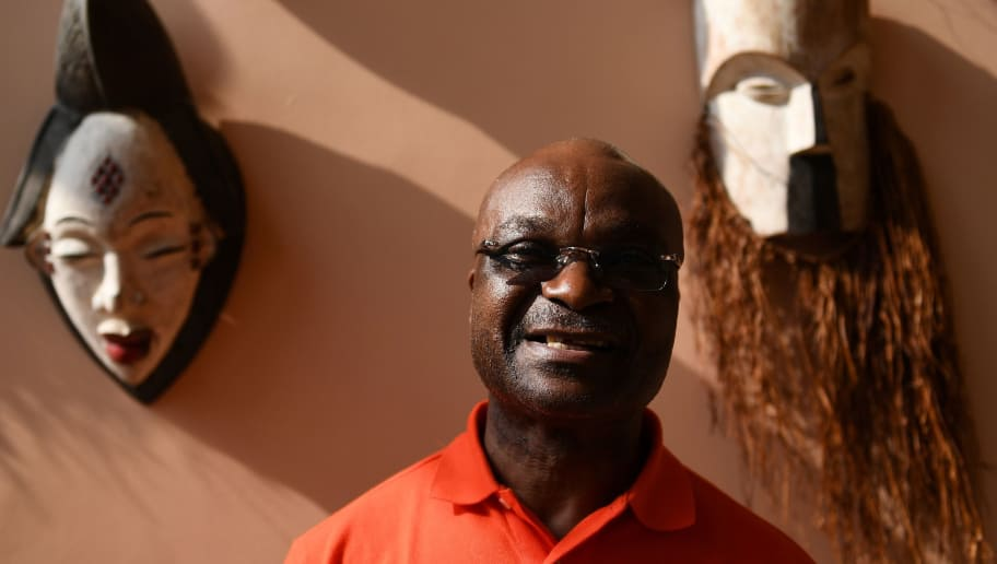Cameroon legend Roger Milla poses in Libreville on January 16, 2017, on the sideline of the 2017 Africa Cup of Nations football tournament in Gabon.  / AFP / GABRIEL BOUYS        (Photo credit should read GABRIEL BOUYS/AFP/Getty Images)