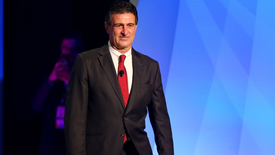 NEW YORK, NY - FEBRUARY 21:  Mario Kempes is introduced during the 2016 Copa America Centenario - Draw Ceremony at Hammerstein Ballroom on February 21, 2016 in New York City.  (Photo by Elsa/Getty Images)