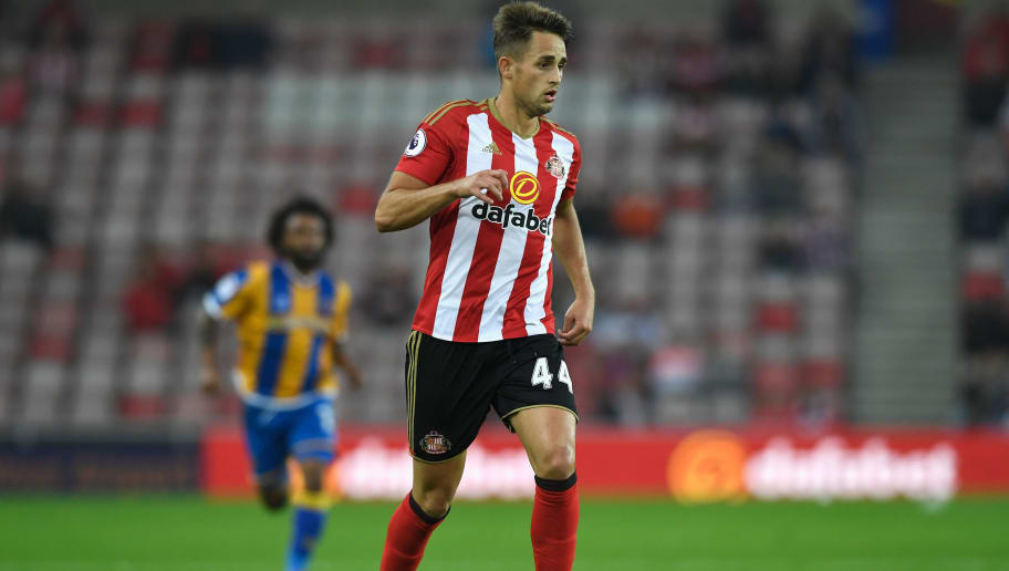 SUNDERLAND, ENGLAND - AUGUST 24:  Sunderland player Adnan Januzaj in action during the EFL Cup Round Two match between Sunderland and Shrewsbury Town at Stadium of Light on August 24, 2016 in Sunderland, England.  (Photo by Stu Forster/Getty Images)