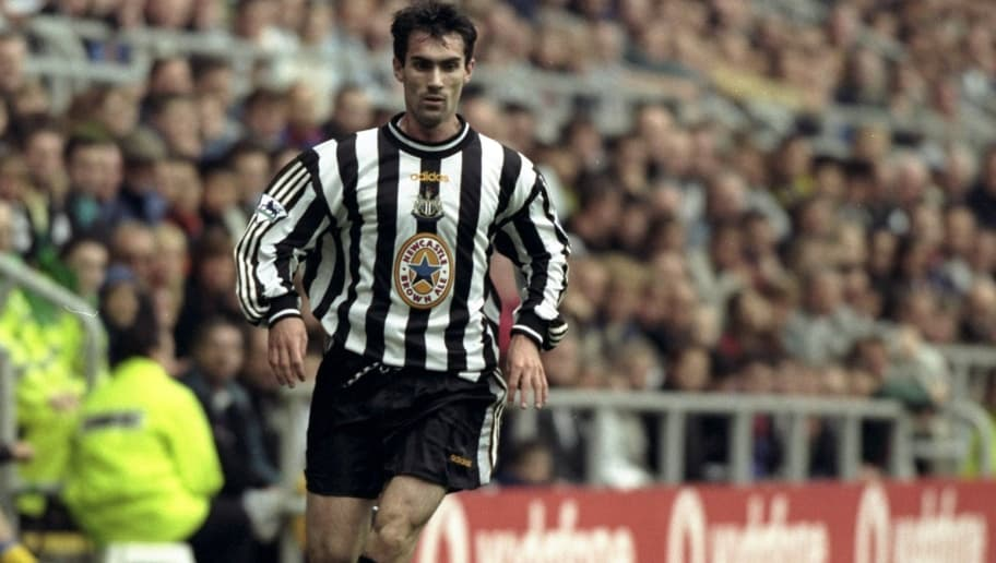 12 Sep 1998:  Keith Gillespie of Newcastle in action in the FA Carling Premiership match against Southampton at St James'' Park in Newcastle, England. Newcastle won the game 4-0. \ Mandatory Credit: Allsport UK /Allsport