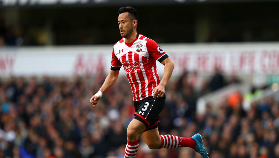 LONDON, ENGLAND - MARCH 19: Maya Yoshida of Southampton in action during the Premier League match between Tottenham Hotspur and Southampton at White Hart Lane on March 19, 2017 in London, England.  (Photo by Ian Walton/Getty Images)