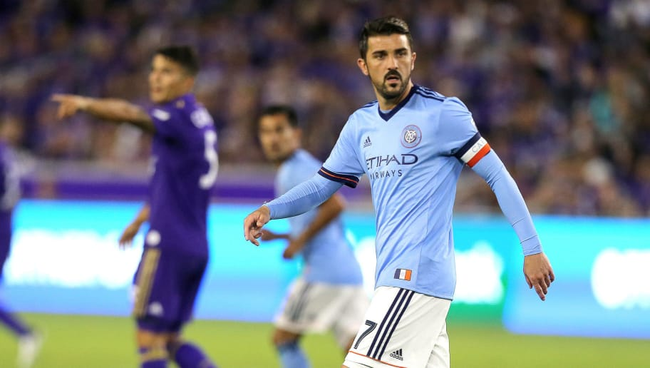 ORLANDO, FL - MARCH 05:  David Villa #7 of New York City FC is seen on the field during a MLS soccer match between New York City FC and Orlando City SC at the Orlando City Stadium on March 5, 2017 in Orlando, Florida. (Photo by Alex Menendez/Getty Images)