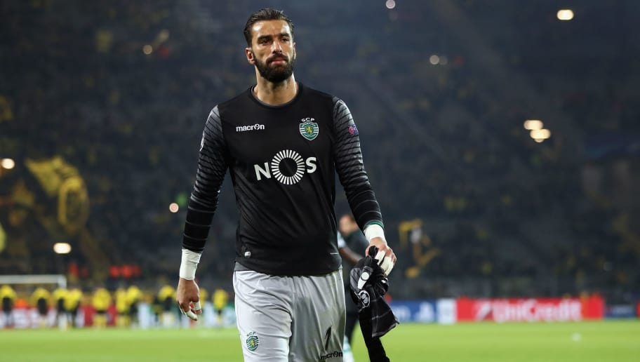 DORTMUND, GERMANY - NOVEMBER 02:  Goalkeeper Rui Patricio of Sporting reacts after the UEFA Champions League Group F match between Borussia Dortmund and Sporting Clube de Portugal at Signal Iduna Park on November 2, 2016 in Dortmund, Germany.  (Photo by Alex Grimm/Bongarts/Getty Images)