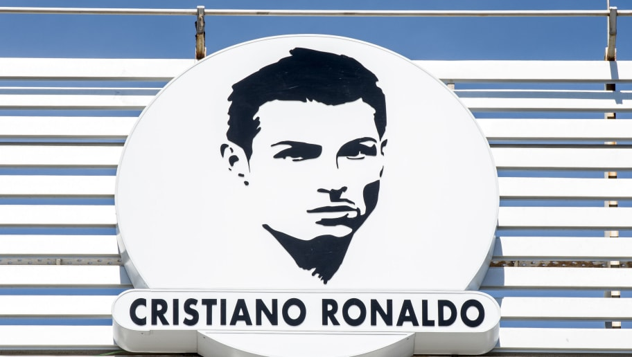 SANTA CRUZ, MADEIRA, PORTUGAL - MARCH 29: Detail of the logo of the airport after the ceremony at Madeira Airport to rename it Cristiano Ronaldo Airport on March 29, 2017 in Santa Cruz, Madeira, Portugal. (Photo by Octavio Passos/Getty Images)