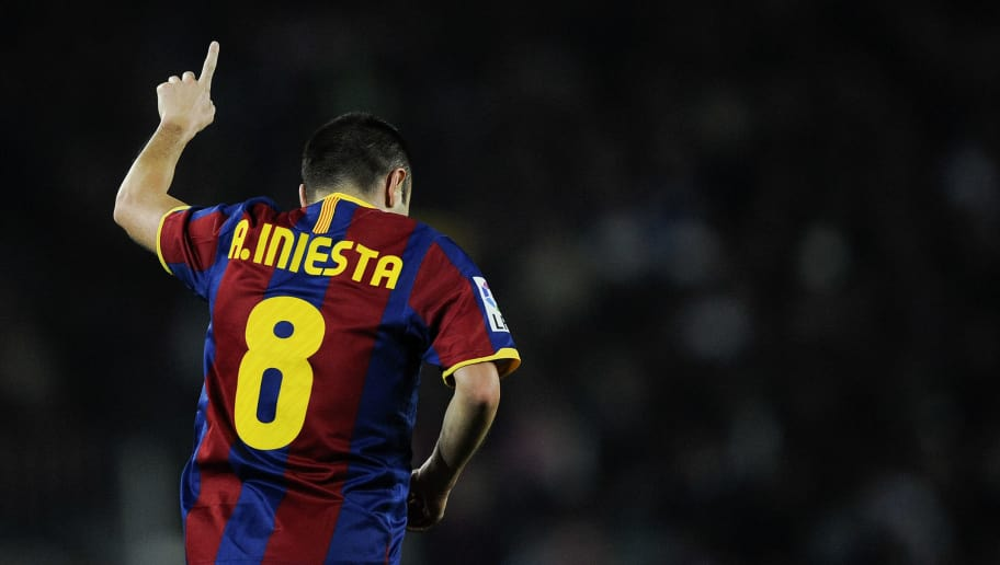 d5784931986 BARCELONA, SPAIN - DECEMBER 12: Andres Iniesta of Barcelona celebrates  after scoring his goal
