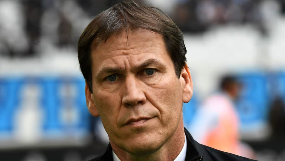 Olympique de Marseille's French head coach Rudi Garcia looks on prior to the French L1 football match between Olympique of Marseille (OM) and Dijon on April 1, 2017 at the Velodrome stadium in Marseille. / AFP PHOTO / BORIS HORVAT        (Photo credit should read BORIS HORVAT/AFP/Getty Images)