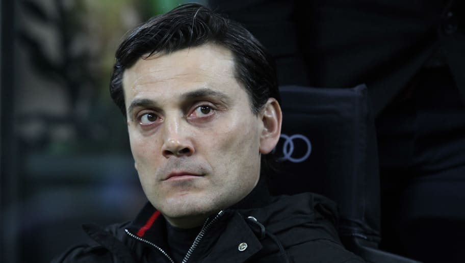 MILAN, ITALY - MARCH 04:  AC Milan coach Vincenzo Montella looks on before the Serie A match between AC Milan and AC ChievoVerona at Stadio Giuseppe Meazza on March 4, 2017 in Milan, Italy.  (Photo by Marco Luzzani/Getty Images)